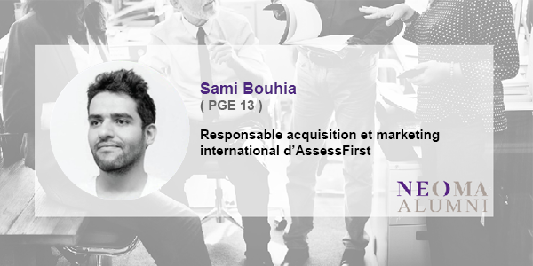 Sami Bouhia est promu responsable acquisition et marketing international d'AssessFirst