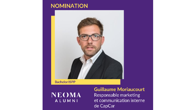 Guillaume Moriaucourt a été nommé responsable marketing et communication interne de CapCar